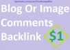 12 Manual Blog Comments Backlinks High PA DA Sites