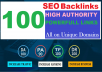 Build 100 HIGH-QUALITY Backlinks 40 PR9+20 EDU/GOV+40 Blog Comment