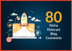 Provide 80 Niche Relevant Blog Comment Backlinks Low Obl