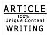 Create 2000 words unique articles copyscape free with niche related 5 keywords