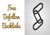 Create 60 dofollow backlinks
