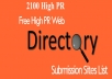 High PR 2000 Directory Submission Manually