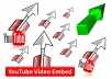Get Embed your YouTube Video with 1000 Real Audience