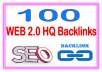 Submit You Any Link 100 PR7-9  Web 2.0 Backlinks To rank higher on Google.