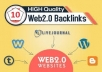Create10 Web 2,0 Buffer blogs Contextual Backlinks,For SEO