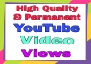 YouTube Organic Video Promotion & Marketing very fast only