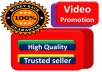 Today i will give you 2000 - 2500 video Promotion service for all with very fast delivery