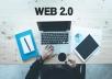 Manually 20 web 2.0 blogs backlinks  (Shared Accounts)