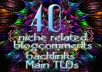 40 Niche related Comments backlinks