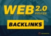 place 10 unique web 2 posted backlinks to improve ranking