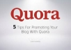 12 Quora Answer with your keywords & url
