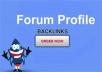 do 3500 forum profiles backlinks