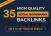 TOP 35 Social Bookmarking - Manual Work Full Report