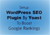 install Yoast wordpress Seo plugin & do onpage SEO optimzation for $5