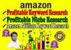 research amazon profitable keywords