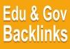 create 33. edu and .gov dofollow backlinks