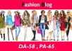 "Create High Authority ""FASHION"" Niche Blogs DA-50"