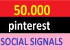 50,000 pinterest Social Signals Come From Top 1 Social Media Sites