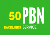 50 PBN Backlinks DA 20+ and TF 20+ and Blogger Backlink to get fast rankup