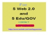 GET 5 WEB 2.0 WITH 5 EDU/GOV BACK TO BOOST YOUR RANKING