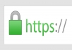 install an SSL certificate on your site