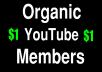 Organic 30 Sub for Youtube Marketing