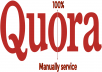Create 10 High Quality Quora Answer Posting targetted traffic