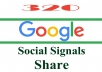320 Google Plus Share SEO Social Signals Bookmarks/Backlinks-for Site,Video,Google Plus Accounts