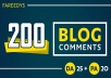 Do Manually 200 High Da Pa Blog Comment Backlinks