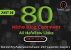 Do 80 High Authority Niche Relevant Blog Comments Backlinks