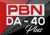 Build 5 PBN DA 40+ Homepage Backlinks