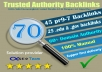 Exclusive Offer-70+ Backlinks 45 PR9 + 25 EDU/GOV 80+ DA manually do Safe SEO  Increase Google ranking