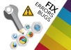Fix any issue related html, css, js, jquery, php, wordpress