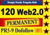 create Web 2.0 Profile, Quality Baclinks, 50+ sites, PR9 PR8 PR7 PR6 PR5