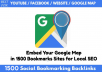 1500 Social Bookmarking Help Local Business Ranking On Google Maps