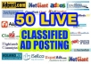 50 clickable classifieds add advertising demand on Client zone like USA, UK, CANADA