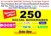 INSTANT Rank Booster  250 SOCIAL Bookmarks BULLET Backlinks Guaranteed For FAST Ranking Web Traffic Boost In Sales High Tf Cf  Da PR4 - PR9 LIMITED Time Offer Hurry Up ORDER Now