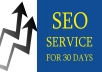 Monthly SEO Service for 5 keywords