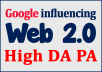 Create Over 20+ Web 2.0 Profile Backlinks On High Page Rank Sites