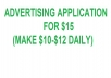 ADVERTISE APPLICATION (watch add. and mak money)(daily $10-12)