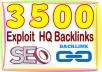 Build 3500 HQ PR Panda safe Contextual & Unique Exploit backlinks