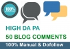 Do High Quality 50 Dofollow Blog Commenting