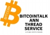 create and market a bitcointalk annthread for your ico