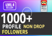 Add Fast 1000+ Profile Followers High Quality And NON DROP Guaranteed