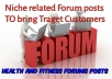 13 health and fitness niche forum posts to target customers