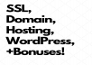 WordPress, SSL, Hosting, & Domain / 1 Full Year