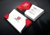 I Will Provide Professional Business Card Design Service