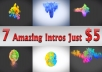 7 Colorful Smoke Logo Intro Video for your logo