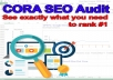 Cora SEO Audit How to Rank #1 in Google