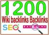 Get 1200 Wiki backlinks High PR4-PR7 Highly Authorized Google Dominating Backlinks